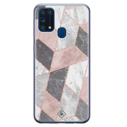 Casimoda Samsung Galaxy M31 siliconen hoesje - Stone grid
