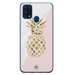 Casimoda Samsung Galaxy M31 siliconen hoesje - Ananas