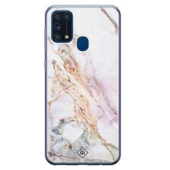 Casimoda Samsung Galaxy M31 siliconen hoesje - Parelmoer marmer