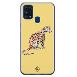 Casimoda Samsung Galaxy M31 siliconen hoesje - Leo wild