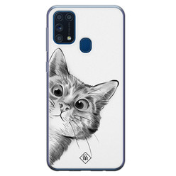 Casimoda Samsung Galaxy M31 siliconen hoesje - Peekaboo