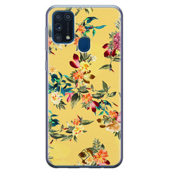 Casimoda Samsung Galaxy M31 siliconen hoesje - Floral days