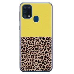 Casimoda Samsung Galaxy M31 siliconen hoesje - Luipaard geel