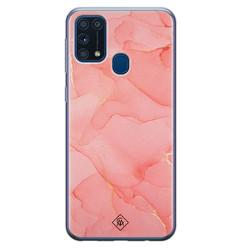 Casimoda Samsung Galaxy M31 siliconen hoesje - Marmer roze