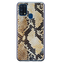 Casimoda Samsung Galaxy M31 siliconen hoesje - Golden snake