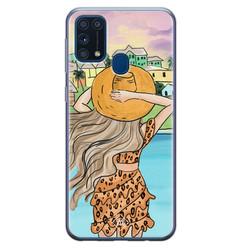 Casimoda Samsung Galaxy M31 siliconen hoesje - Sunset girl