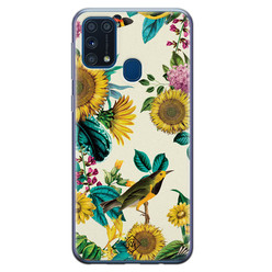 Casimoda Samsung Galaxy M31 siliconen hoesje - Sunflowers