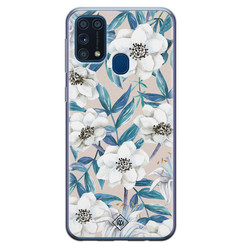 Casimoda Samsung Galaxy M31 siliconen hoesje - Touch of flowers