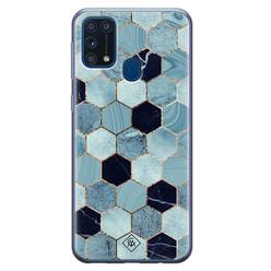 Casimoda Samsung Galaxy M31 siliconen hoesje - Blue cubes