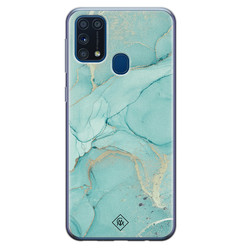 Casimoda Samsung Galaxy M31 siliconen hoesje - Touch of mint