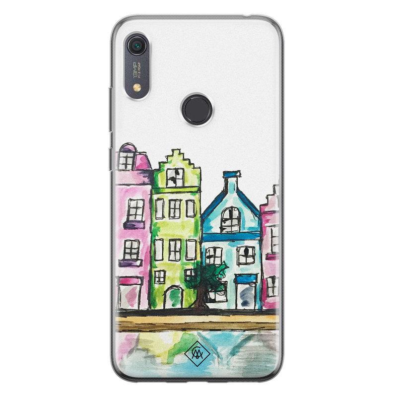 Casimoda Huawei Y6 (2019) siliconen telefoonhoesje - Amsterdam