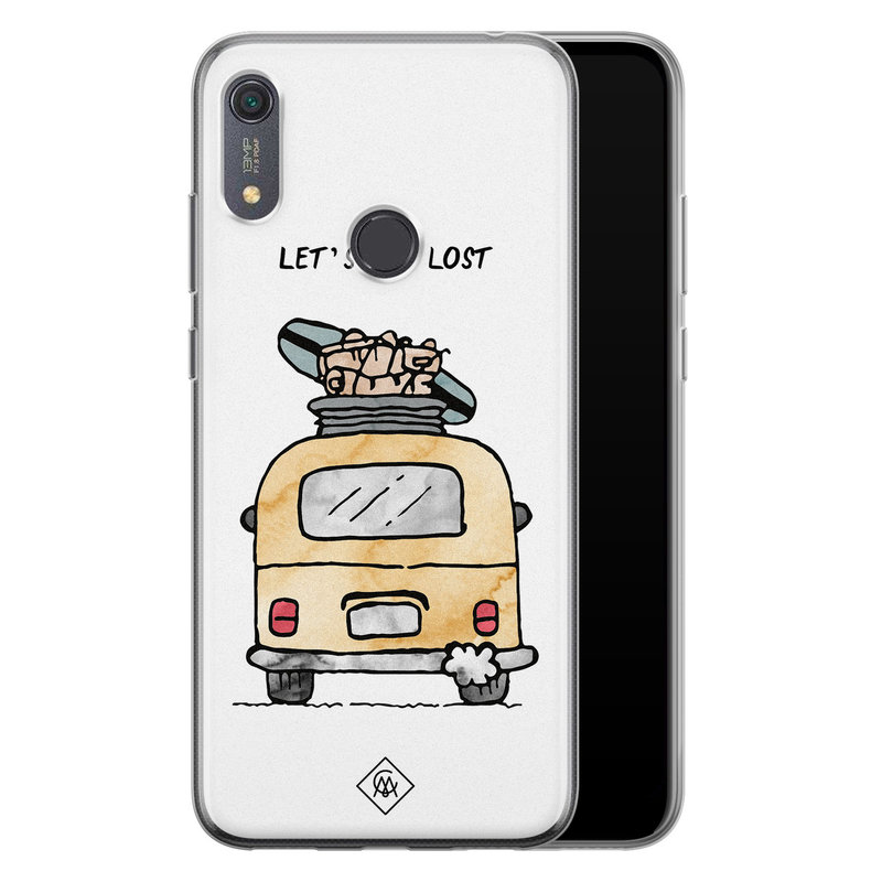Casimoda Huawei Y6 (2019) siliconen hoesje - Let's get lost