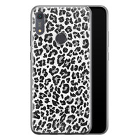 Casimoda Huawei Y6 (2019) siliconen telefoonhoesje - Luipaard grijs