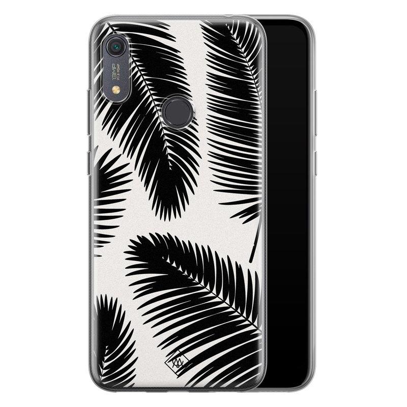 Casimoda Huawei Y6 (2019) siliconen telefoonhoesje - Palm leaves silhouette