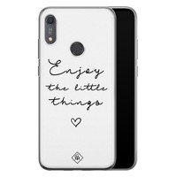 Casimoda Huawei Y6 (2019) siliconen hoesje - Enjoy life