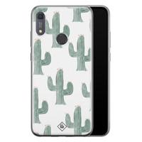 Casimoda Huawei Y6 (2019) siliconen telefoonhoesje - Cactus print