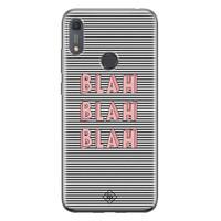 Casimoda Huawei Y6 (2019) siliconen telefoonhoesje - Blah blah blah