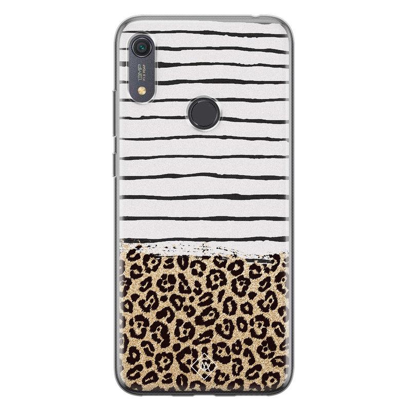 Casimoda Huawei Y6 (2019) siliconen telefoonhoesje - Leopard lines