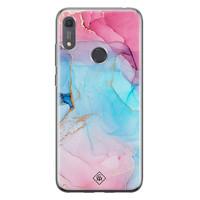 Casimoda Huawei Y6 (2019) siliconen hoesje - Marble colorbomb