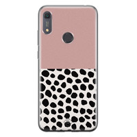 Casimoda Huawei Y6 (2019) siliconen hoesje - Pink dots