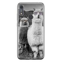 Casimoda Huawei Y6 (2019) siliconen telefoonhoesje - Llama hipster