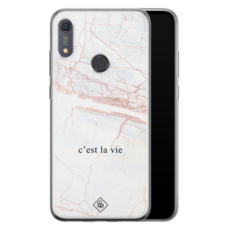 Casimoda Huawei Y6 (2019) siliconen telefoonhoesje - C'est la vie