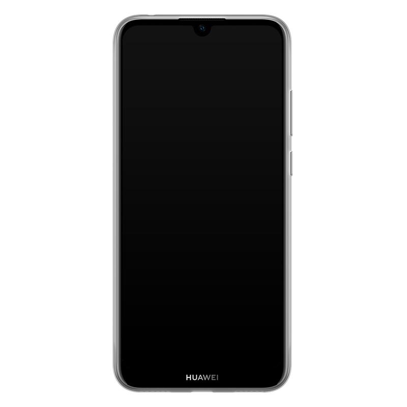 Casimoda Huawei Y6 (2019) siliconen telefoonhoesje - Stone & leopard print
