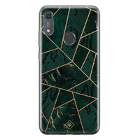 Casimoda Huawei Y6 (2019) siliconen hoesje - Abstract groen