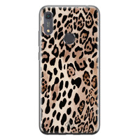 Casimoda Huawei Y6 (2019) siliconen hoesje - Golden wildcat