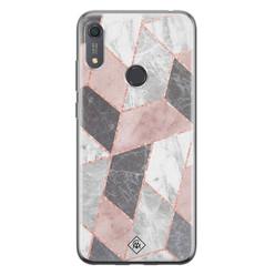 Casimoda Huawei Y6 (2019) siliconen hoesje - Stone grid
