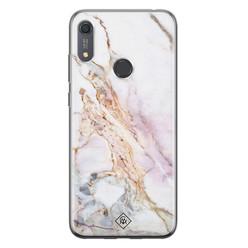 Casimoda Huawei Y6 (2019) siliconen hoesje - Parelmoer marmer