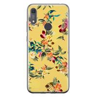 Casimoda Huawei Y6 (2019) siliconen hoesje - Floral days