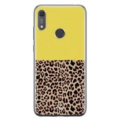 Casimoda Huawei Y6 (2019) siliconen hoesje - Luipaard geel
