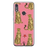 Casimoda Huawei Y6 (2019) siliconen hoesje - The pink leopard