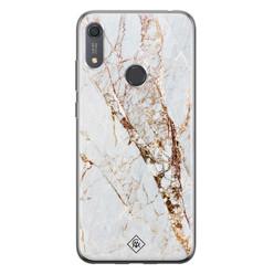 Casimoda Huawei Y6 (2019) siliconen hoesje - Marmer goud