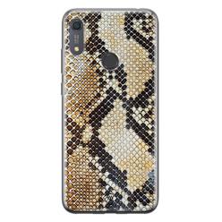 Casimoda Huawei Y6 (2019) siliconen hoesje - Golden snake