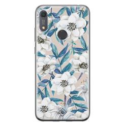 Casimoda Huawei Y6 (2019) siliconen hoesje - Touch of flowers
