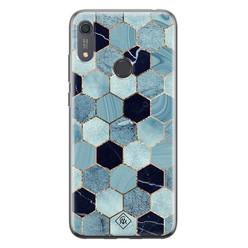 Casimoda Huawei Y6 (2019) siliconen hoesje - Blue cubes