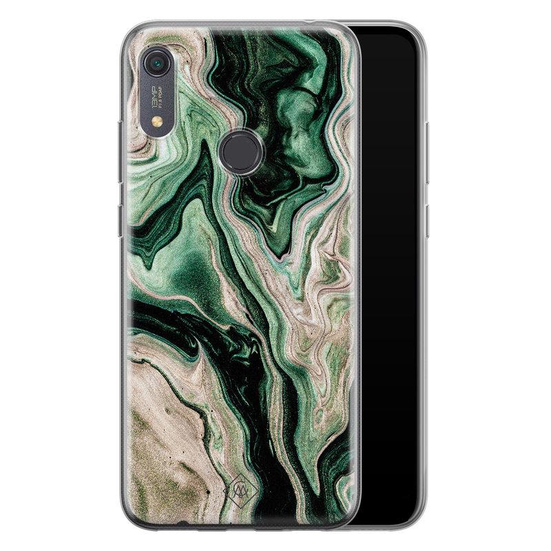 Casimoda Huawei Y6 (2019) siliconen hoesje - Green waves