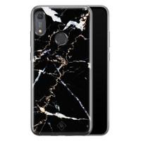 Casimoda Huawei Y6 (2019) siliconen hoesje - Marmer zwart