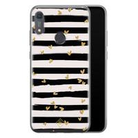 Casimoda Huawei Y6 (2019) siliconen telefoonhoesje - Hart streepjes