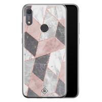 Casimoda Huawei Y6 (2019) siliconen telefoonhoesje - Stone grid