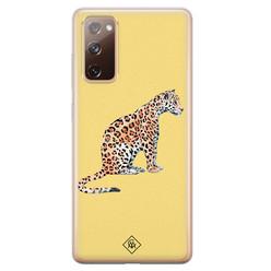 Casimoda Samsung Galaxy S20 FE siliconen hoesje - Leo wild