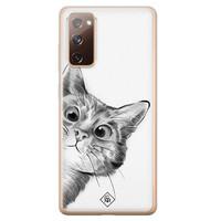 Casimoda Samsung Galaxy S20 FE siliconen hoesje - Peekaboo