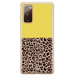 Casimoda Samsung Galaxy S20 FE siliconen hoesje - Luipaard geel
