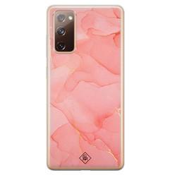 Casimoda Samsung Galaxy S20 FE siliconen hoesje - Marmer roze