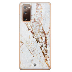 Casimoda Samsung Galaxy S20 FE siliconen hoesje - Marmer goud