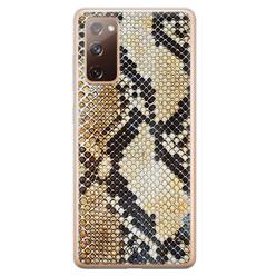 Casimoda Samsung Galaxy S20 FE siliconen hoesje - Golden snake