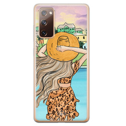 Casimoda Samsung Galaxy S20 FE siliconen hoesje - Sunset girl