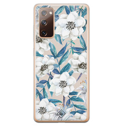 Casimoda Samsung Galaxy S20 FE siliconen hoesje - Touch of flowers